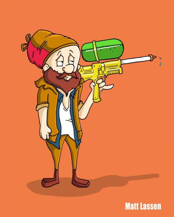 Elmmer Fuud, Looney Tunes hipster
