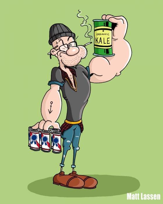 Popeye hipster
