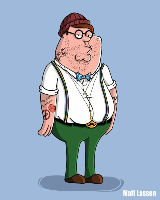 Peter Griffin, Family Guy hipster
