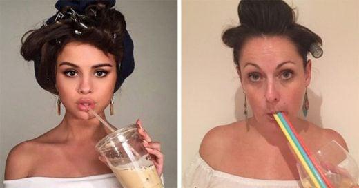 Celeste Barbe regresa y hace más parodias de fotos de famosos