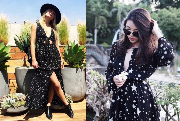 Chicas usando vestidos de estrellas en el festival coachella 2016