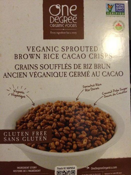 Cereales de chocolates con una mezcla orgánica