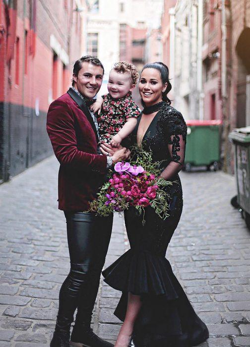 Sophie Cachia, su esposo y su hijo