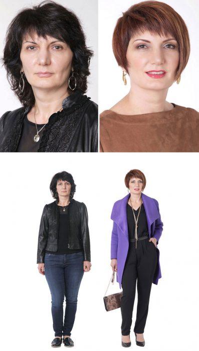 Transformación del cambio de imagen de una mujer