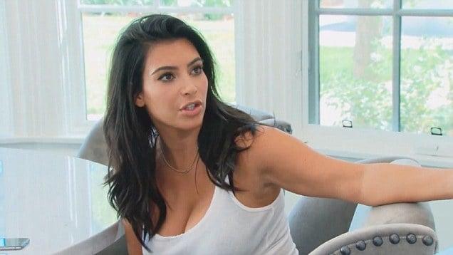 Kim Kardashian enojada