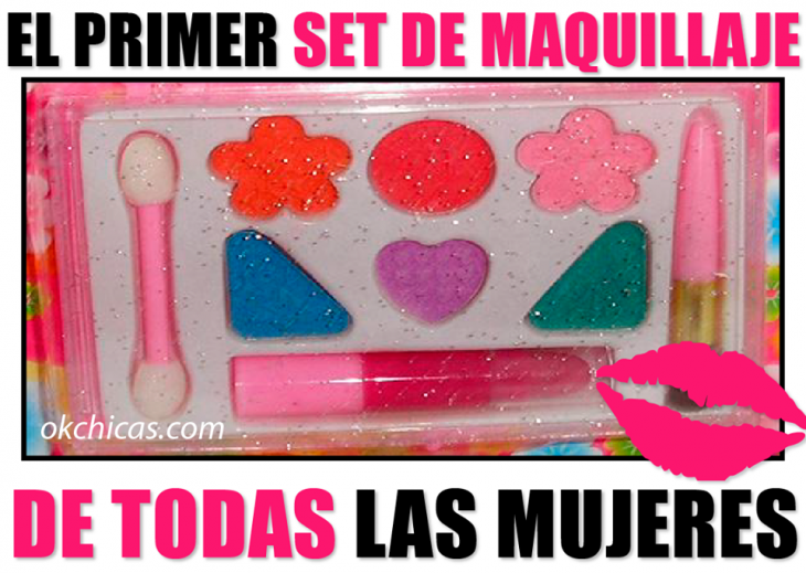 meme ok chicas set primer maquillaje de niñas 90s