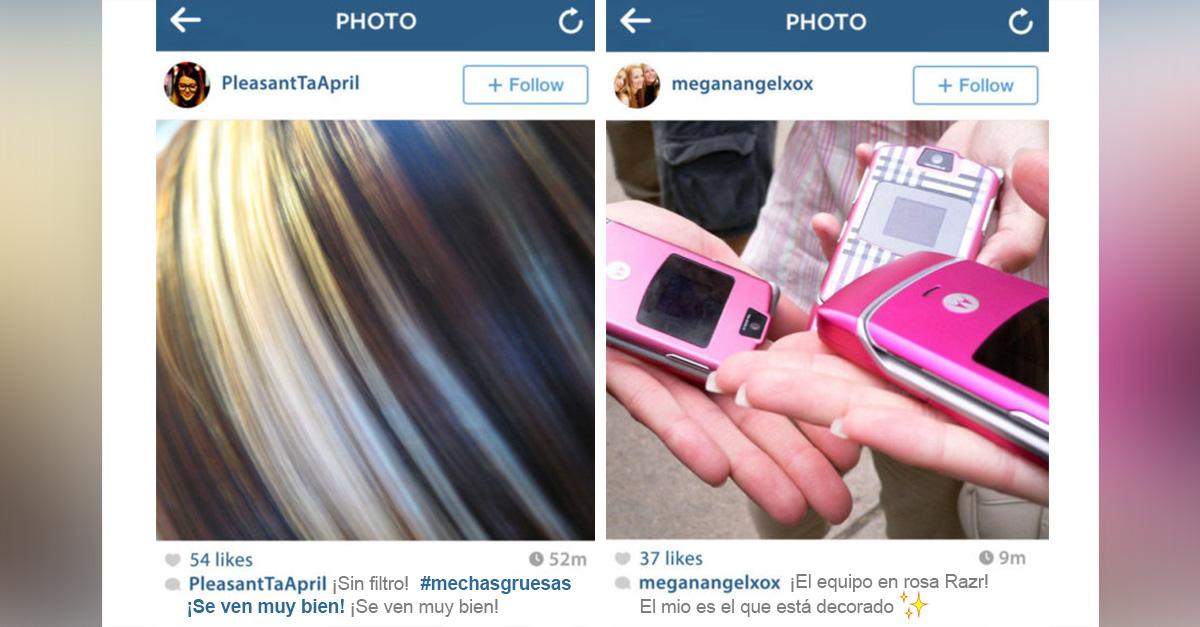 Fotos que veríamos en Instagram si fuera el año 2000