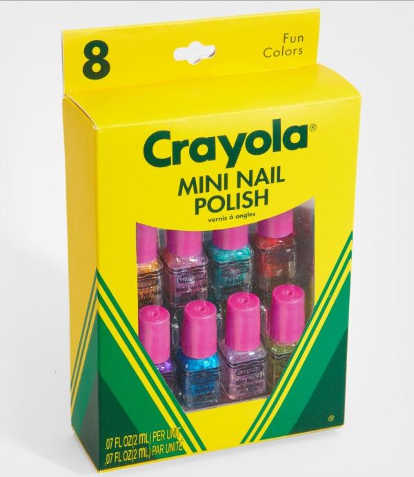 Empaque de crayolas con mini esmaltes