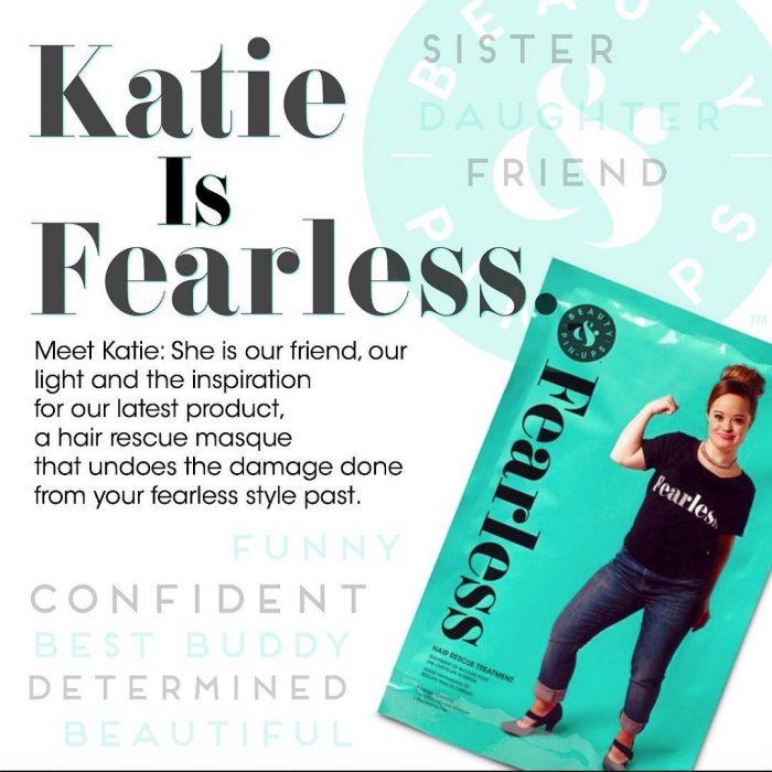 Katie Meade atleta y modelo que es la cara de una nueva campaña de belleza posando en distintos productos de belleza