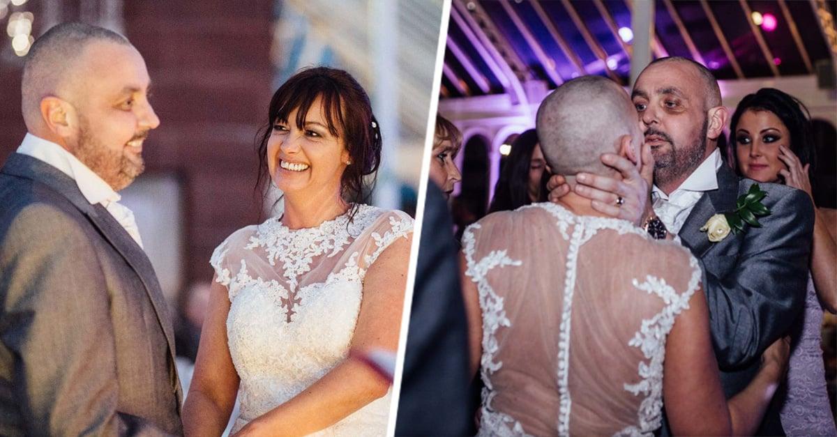 Novia afeita su cabeza en plena boda en un conmovedor acto de amor que te sacará lágrimas