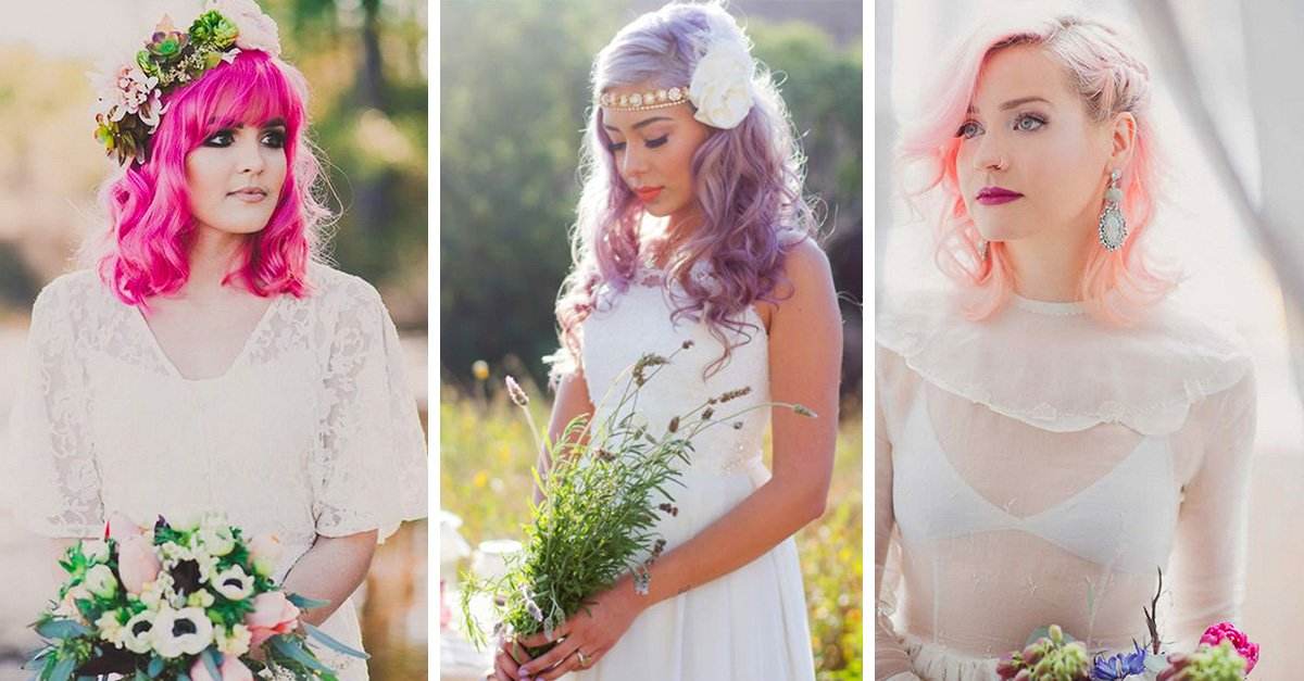 Novias cuyo cabello de colores te enamorará