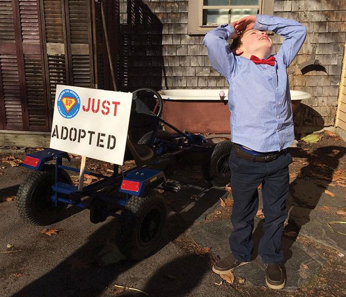 Niño recién adoptado