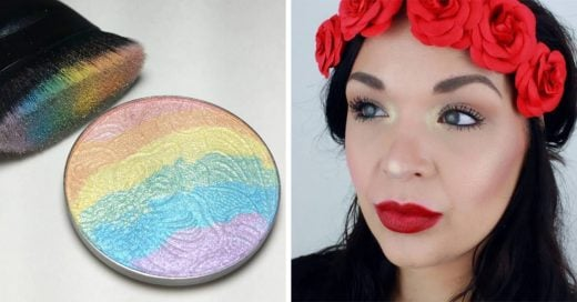 Nuevo iluminador arcoiris para rostro