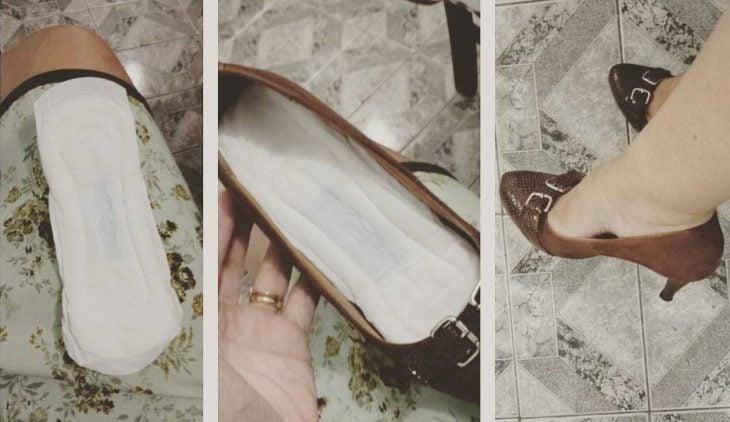 Zapatos con toalla sanitaria de plantilla