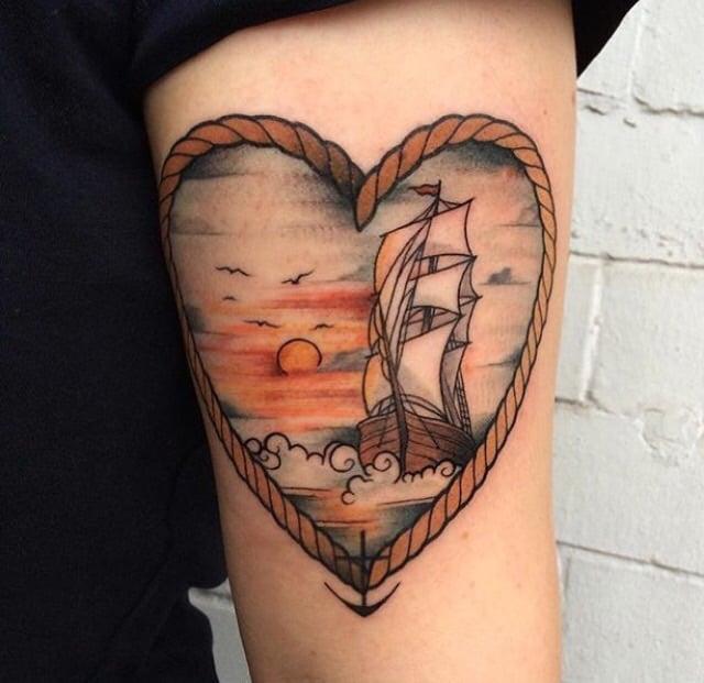 Tatuaje paisaje del mar