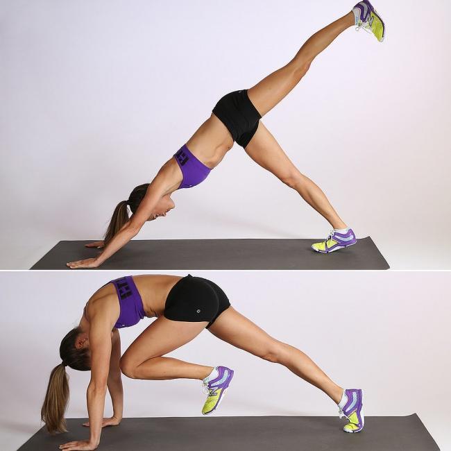 ejercicios abdomen y glúteos
