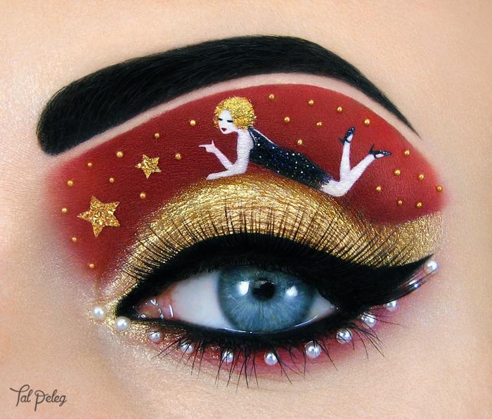 Esta chica usa sus ojos como lienzo para crear obras de arte