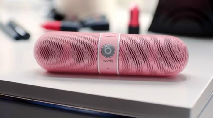 pill beat pequeña bocina para celular color rosa