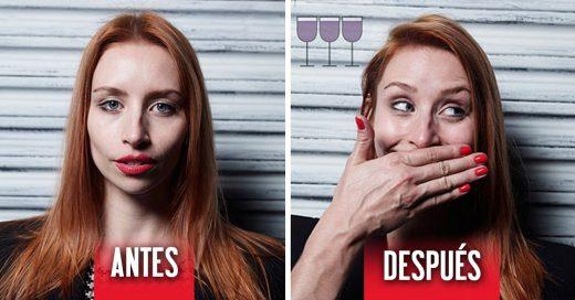imágenes que muestran los cambios en la expresión tres copas después
