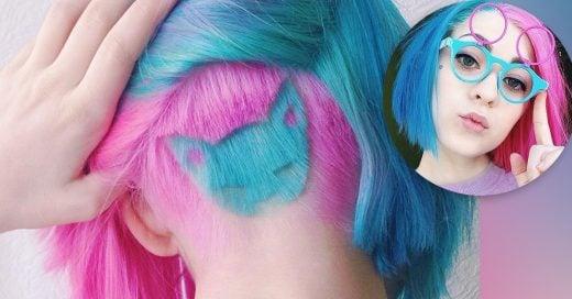 """La nueva moda de cabello arcoiris y un """"tatuaje capilar"""" de gatos"""