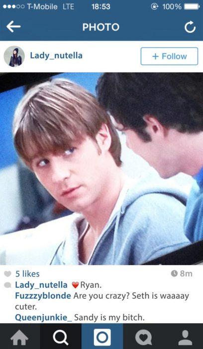 fotografìa en instagram chico rubio en la television