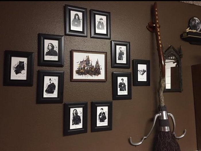 pared con imagenes de harry potter