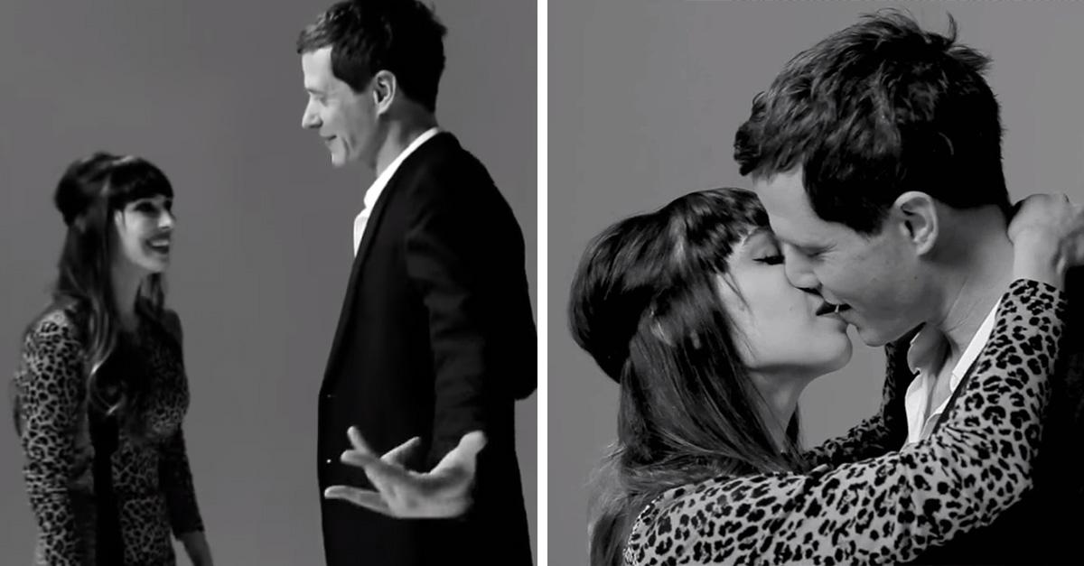 Extraños se besan y esto es lo que sucede