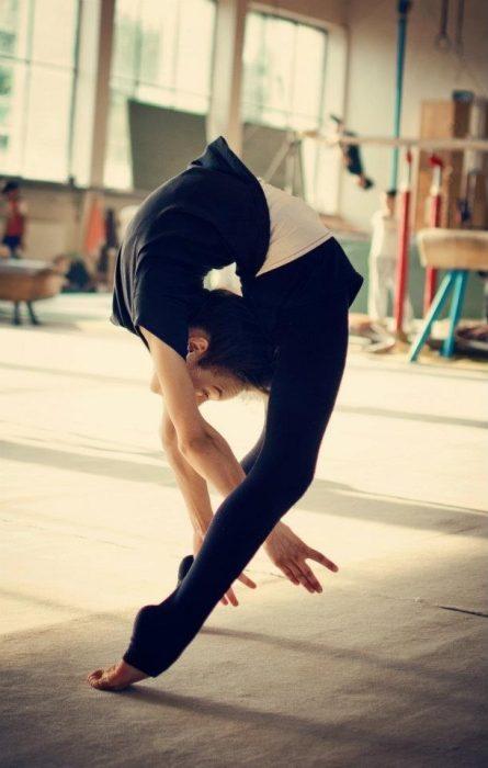 bailarina muy flexible