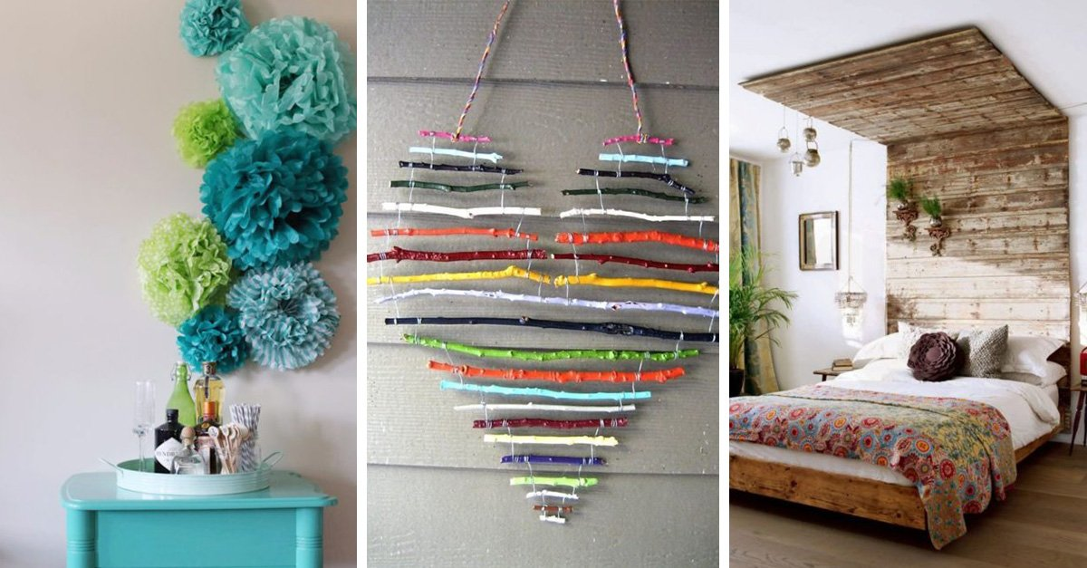 20 pr cticas y originales ideas para decorar tu habitaci n for Ideas para decorar casa pequena poco dinero