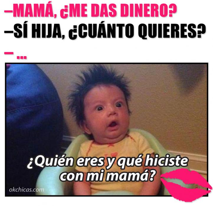 Meme okchicas cuando tu mamá te da dinero