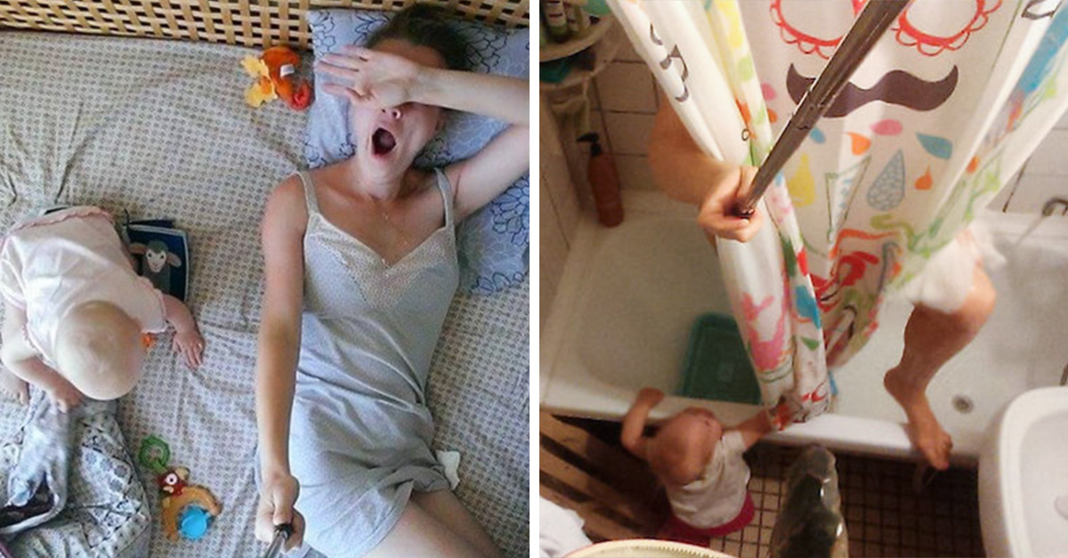 Esta mujer documentó todo lo que significa ser madre sólo con un 'selfie stick'