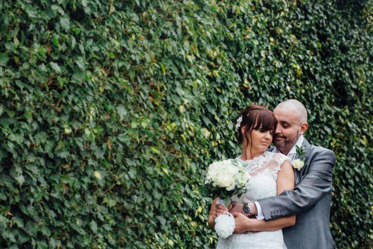 Craig y Joan en sesión de fotos de boda