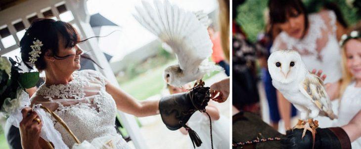 Búho parte de la ceremonia de una boda