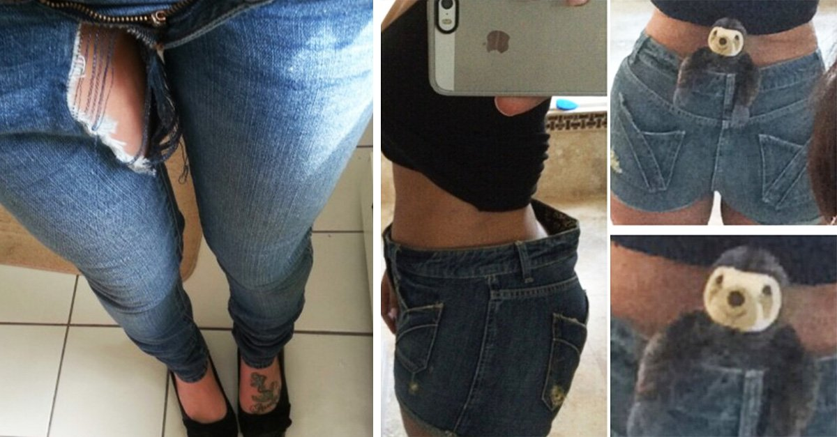 Chica con jeans ajustados girl in tight jeans - 1 part 5