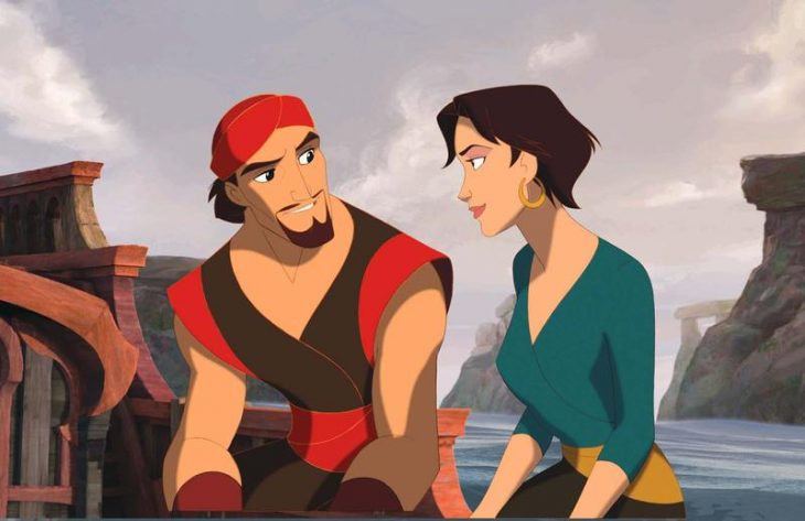 hombre con mujer sentados en un barco simbad