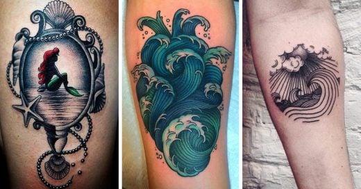 Tatuajes bonitos que sólo las chicas que aman el mar merecen tener en su piel