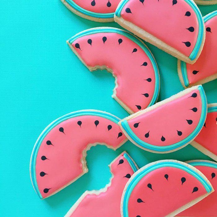 repostería galletas de colores sandias