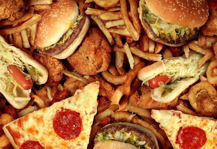 comida rápida procesada