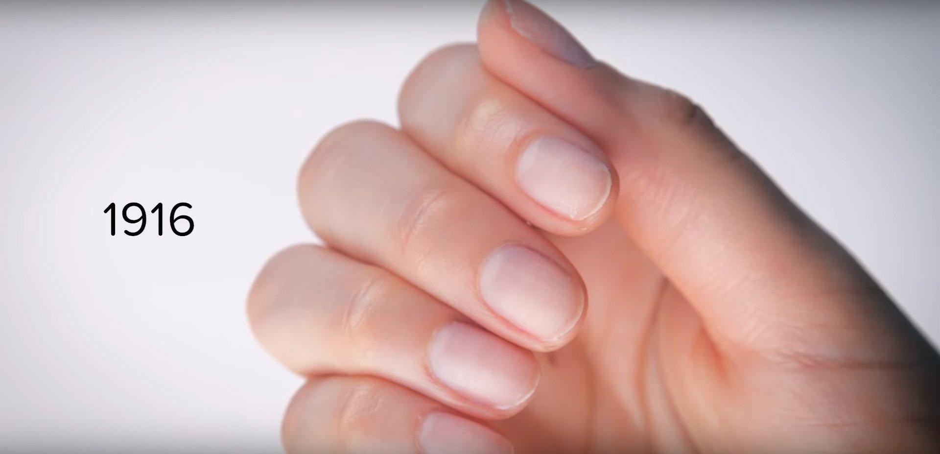 Así han cambiado las tendencias en las uñas en 100 años