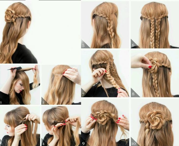 tutoriales peinados mujer rubia cabello largo
