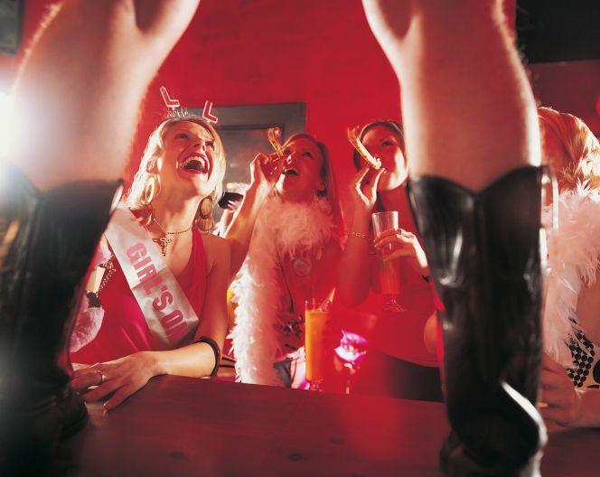 chica en club de stripper