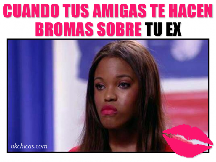 meme ok chicas mujer morena enojada
