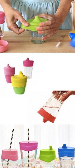 tapas de plastico para vasos