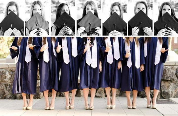 amigas graduación