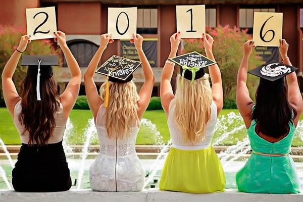 chicas foto de graduación