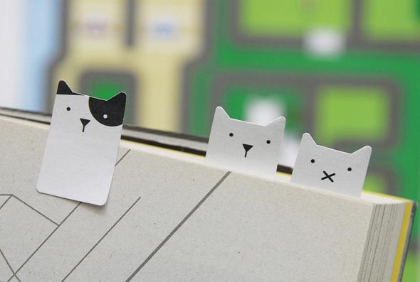 separadores de libro en forma de gato