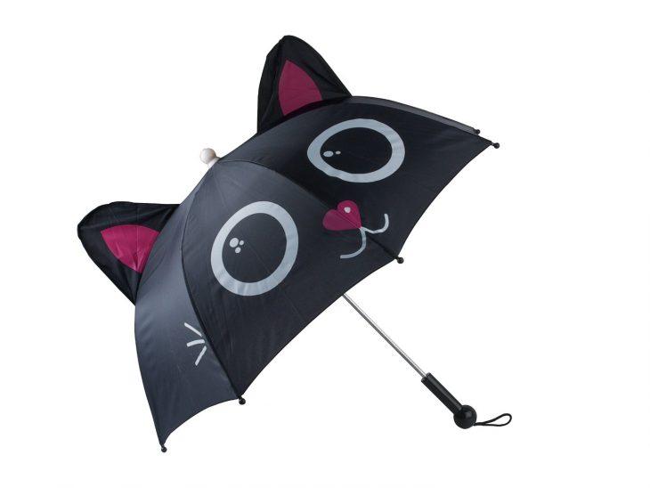 sombrilla en forma de gato