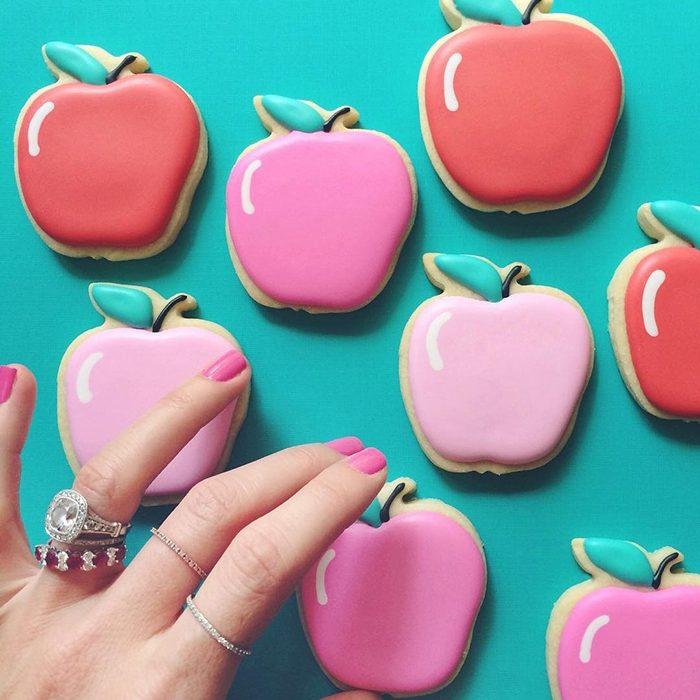 repostería galletas de colores manzanas