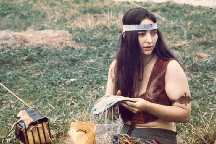 chica en Woodstock