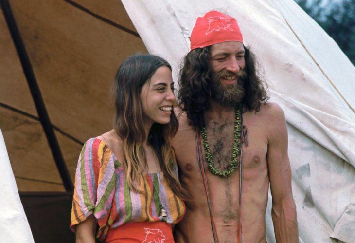 pareja en Woodstock